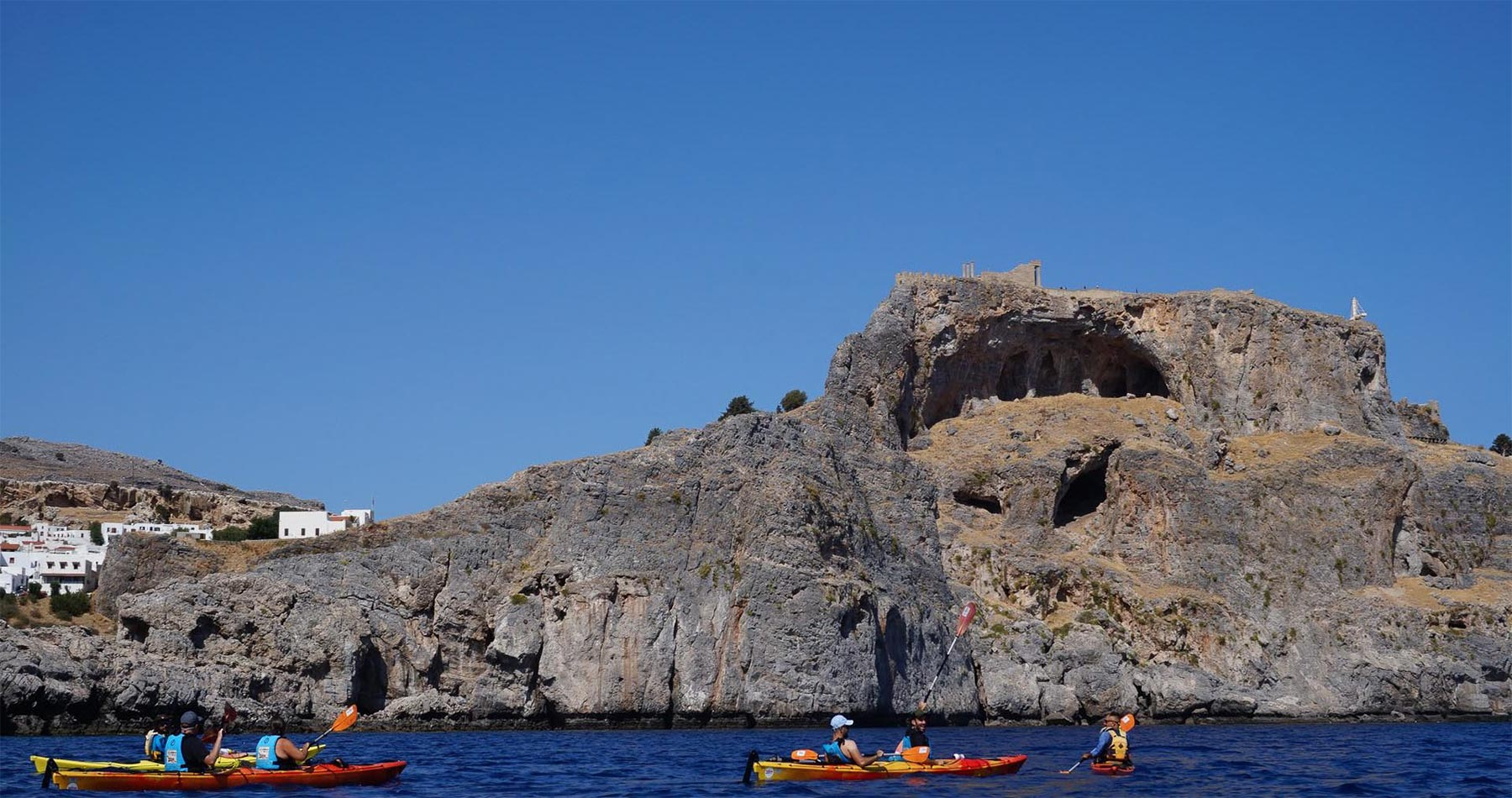 Rhodes Experiences sea kayak rhodes discover lindos full day 2