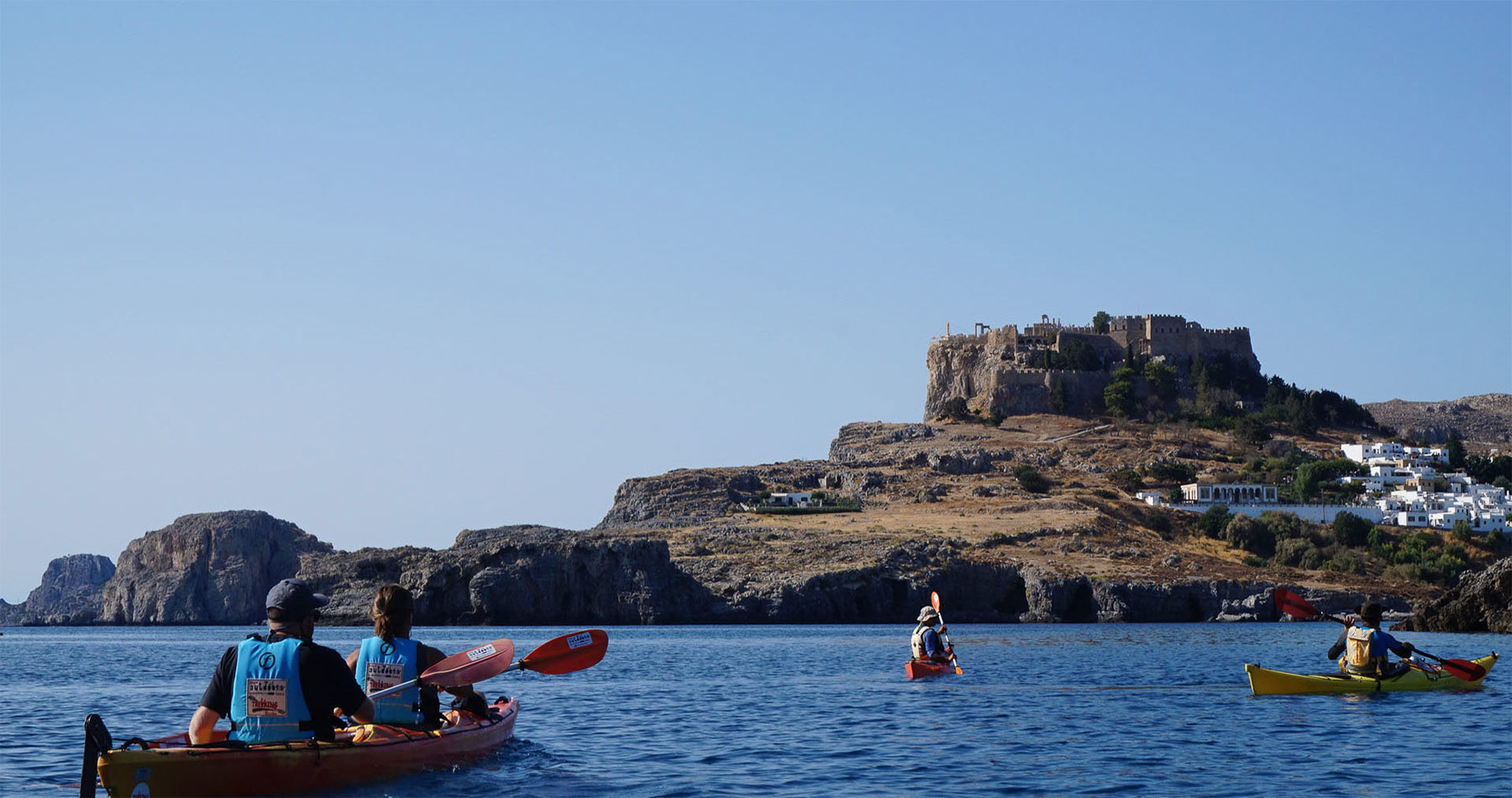 Rhodes Experiences sea kayak rhodes discover lindos full day 4