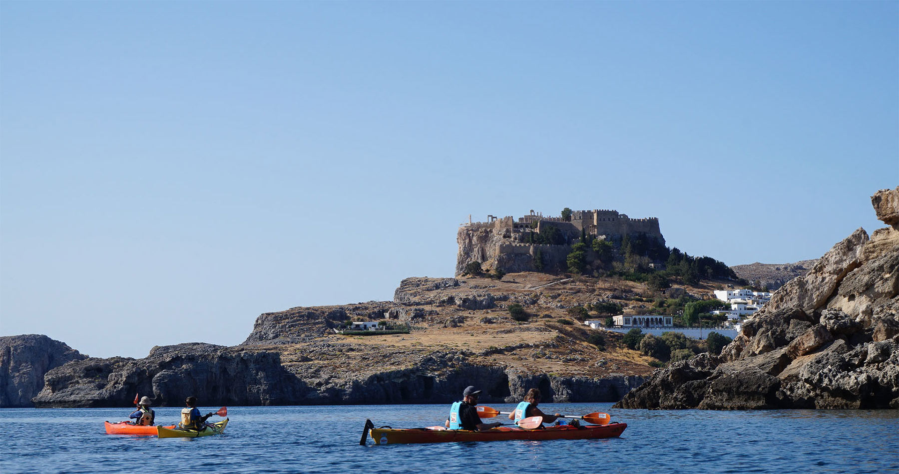 Rhodes Experiences sea kayak rhodes discover lindos full day 5