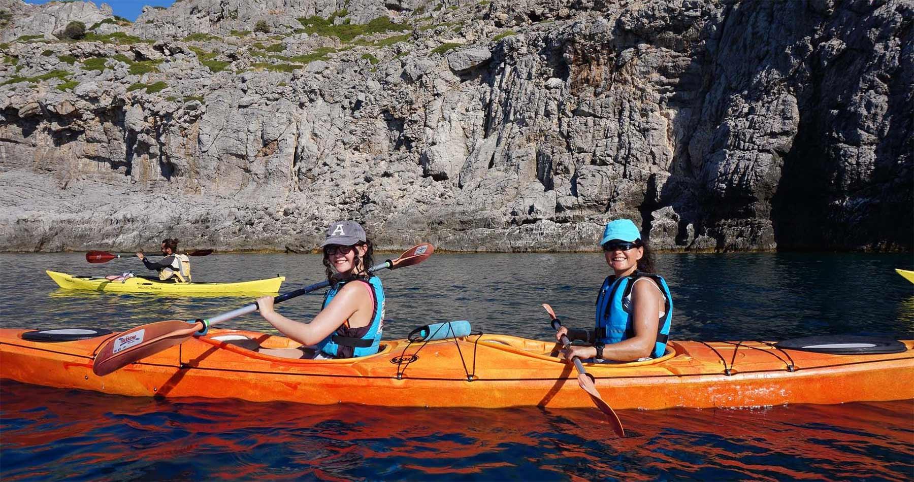 Rhodes Experiences sea kayaking tour the pirates route 1