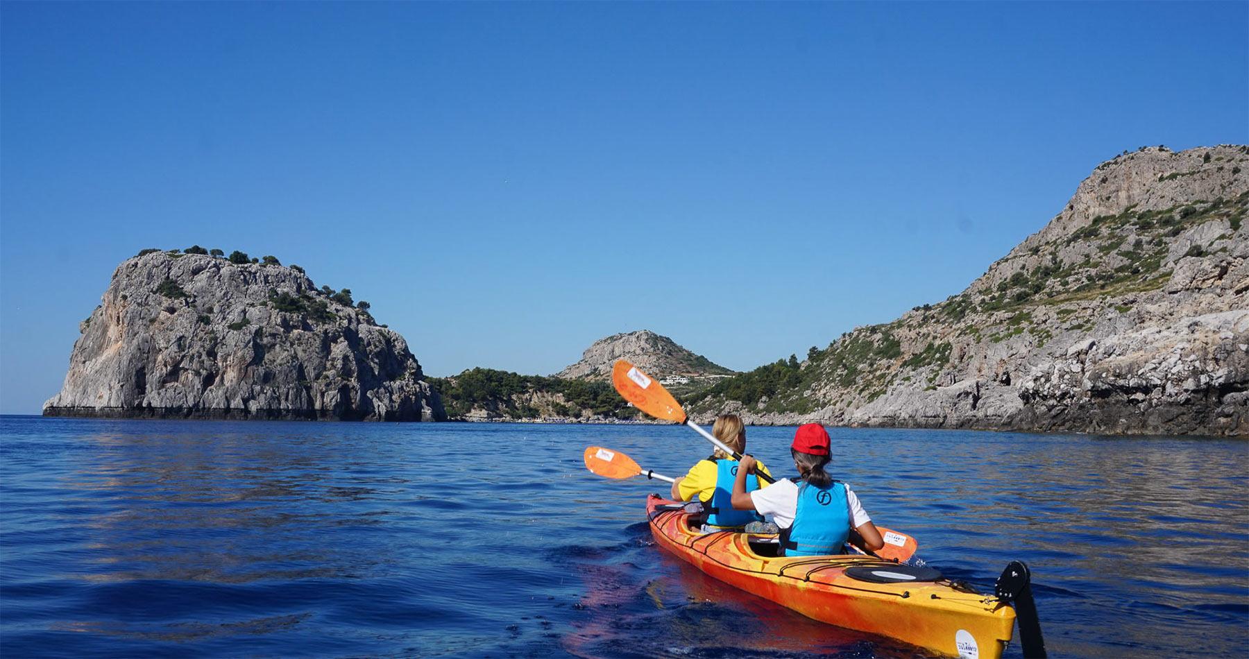 Rhodes Experiences sea kayaking tour the pirates route 11