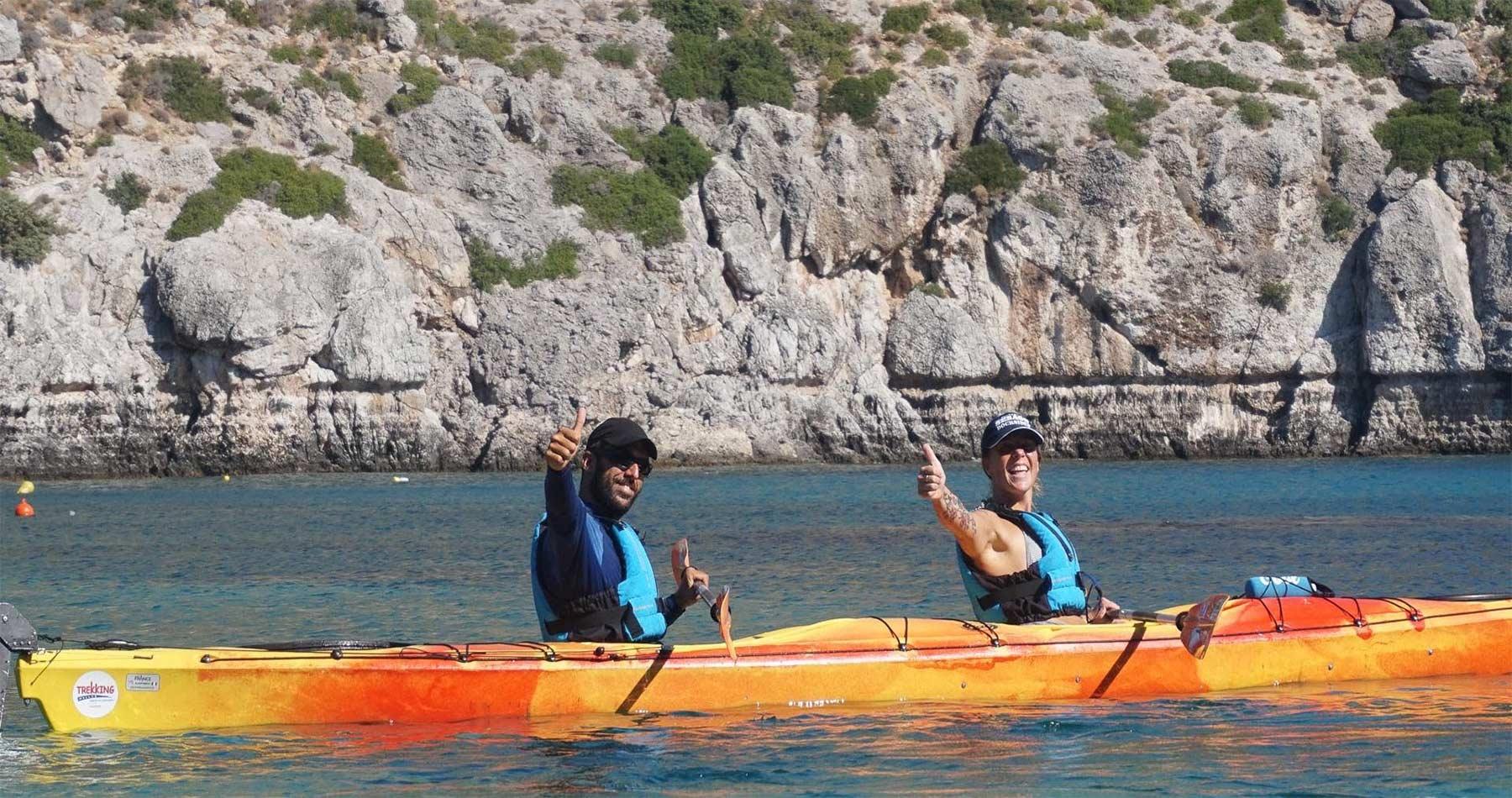 Rhodes Experiences sea kayaking tour the pirates route 12