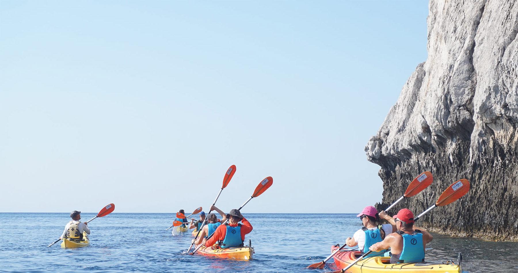 Rhodes Experiences sea kayaking tour the pirates route 13