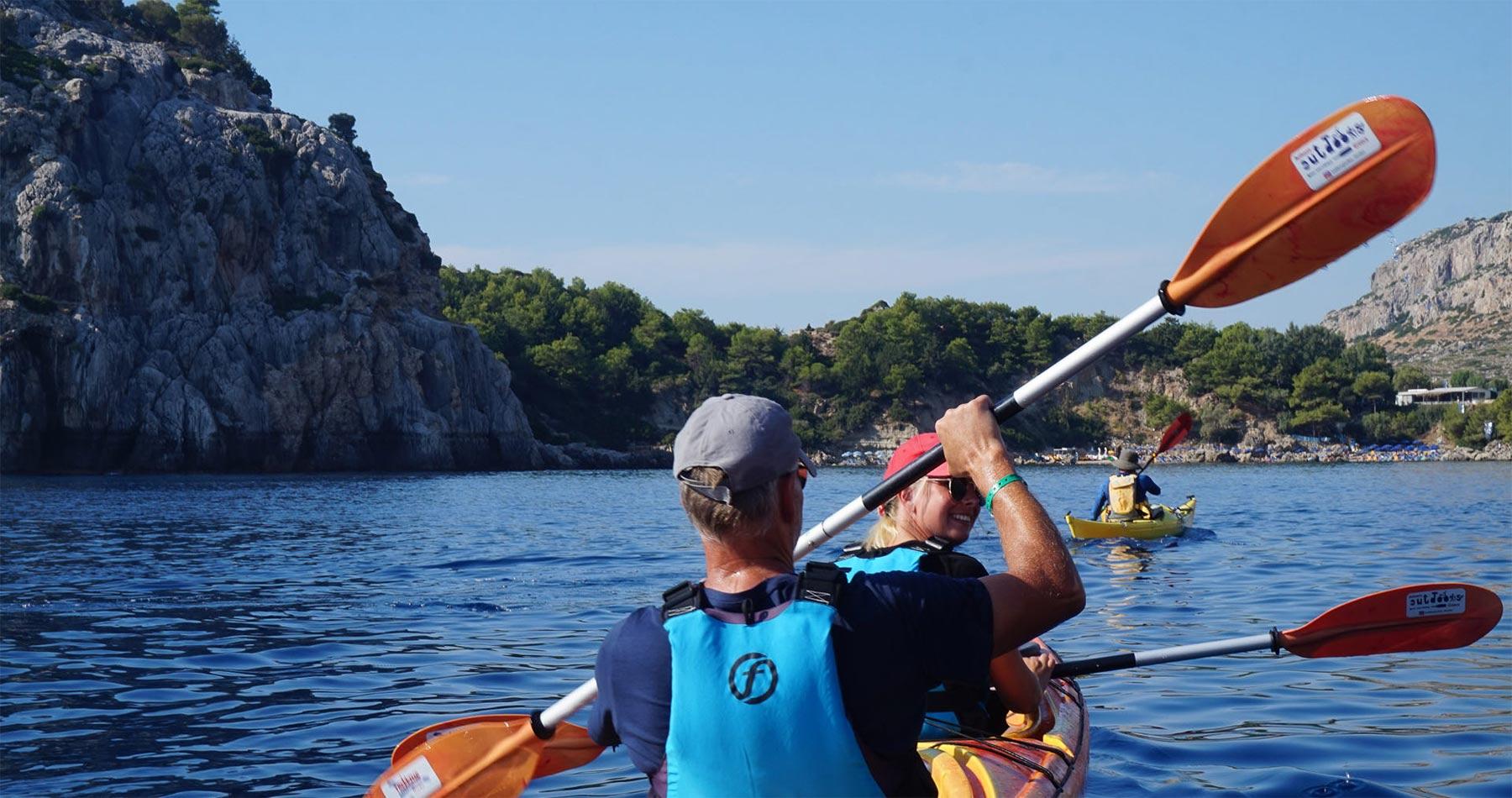 Rhodes Experiences sea kayaking tour the pirates route 14