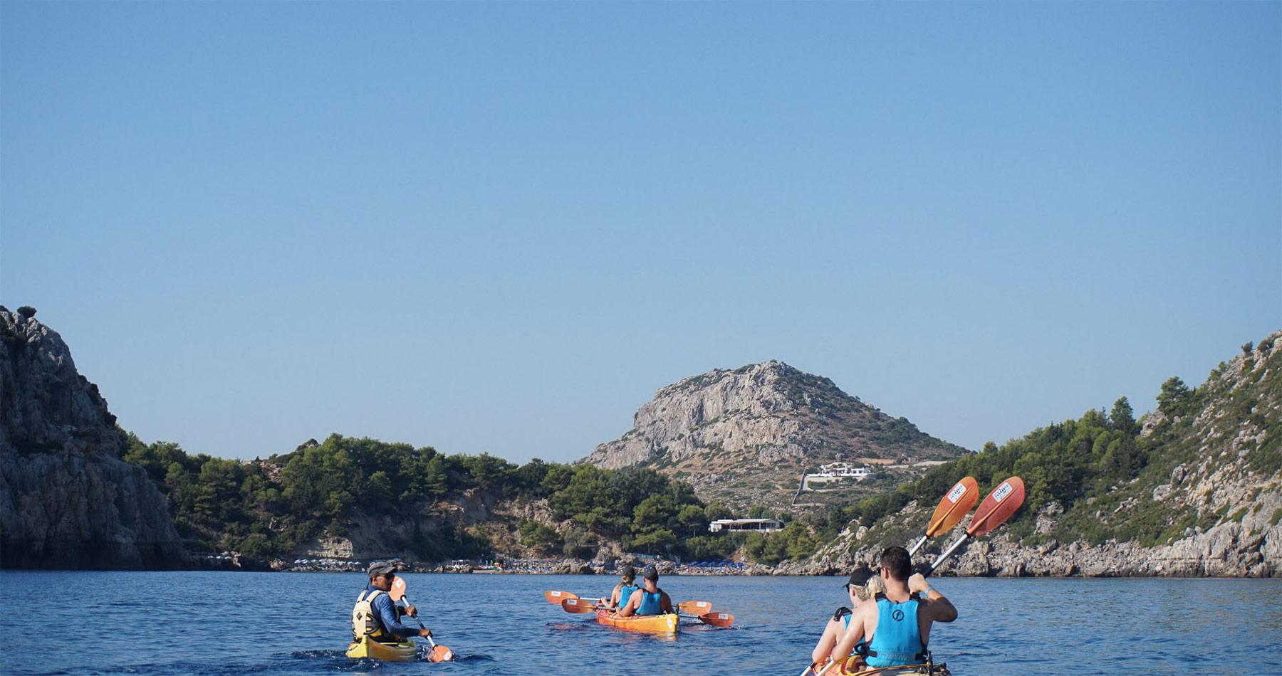 Rhodes Experiences sea kayaking tour the pirates route 15