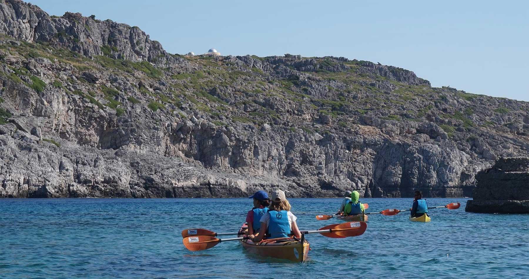Rhodes Experiences sea kayaking tour the pirates route 16