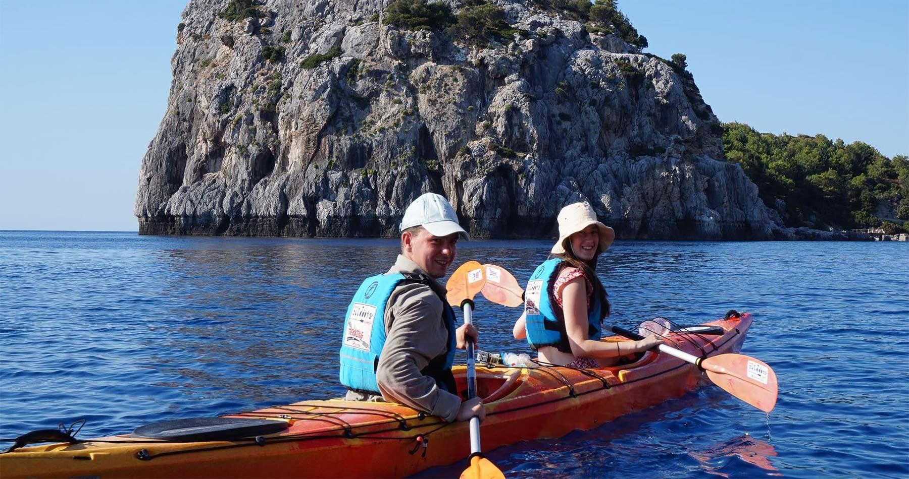 Rhodes Experiences sea kayaking tour the pirates route 2