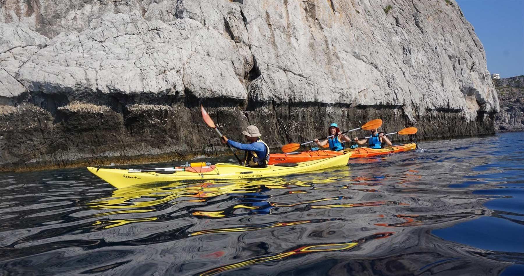 Rhodes Experiences sea kayaking tour the pirates route 4