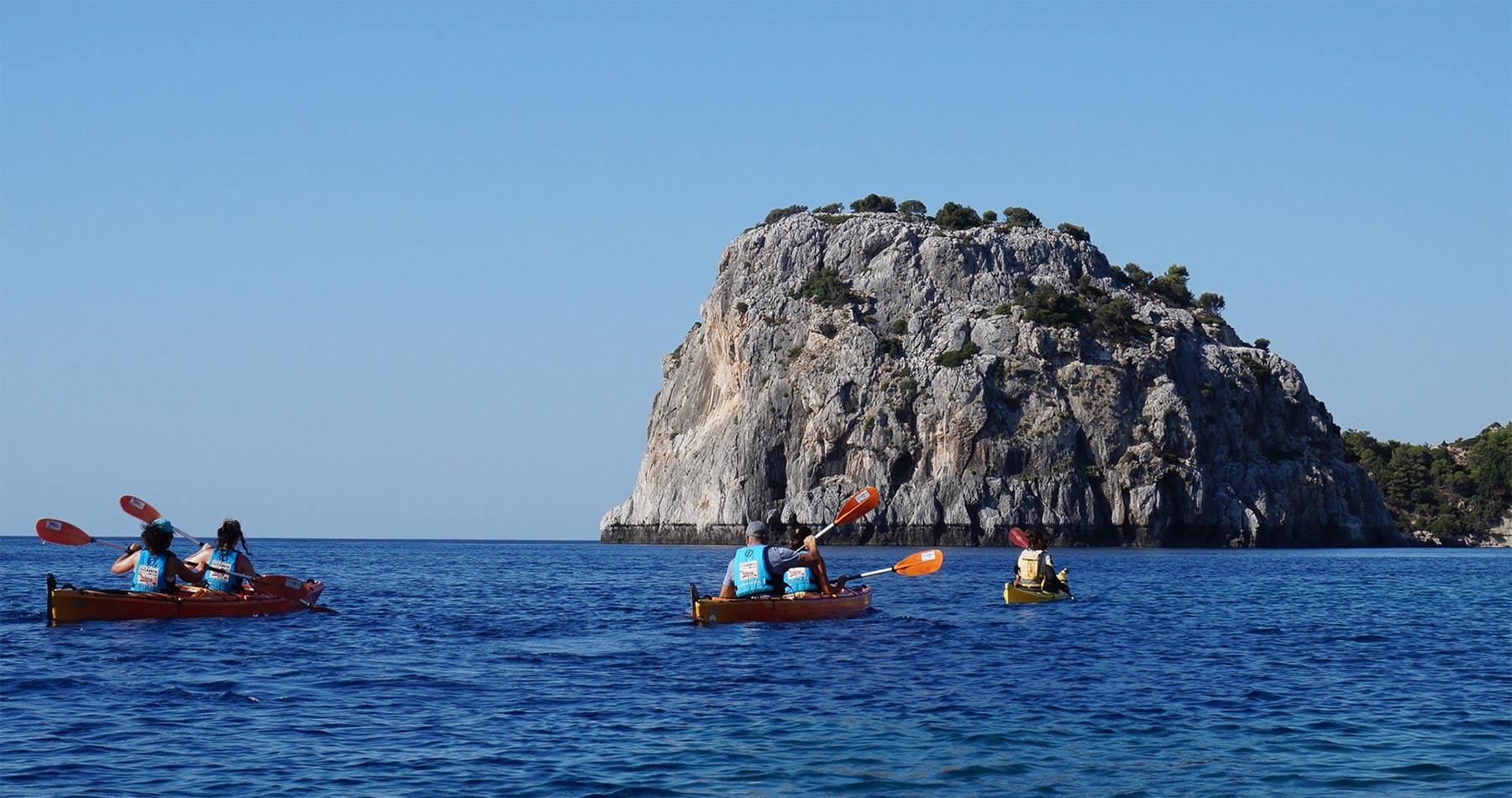 Rhodes Experiences sea kayaking tour the pirates route 5