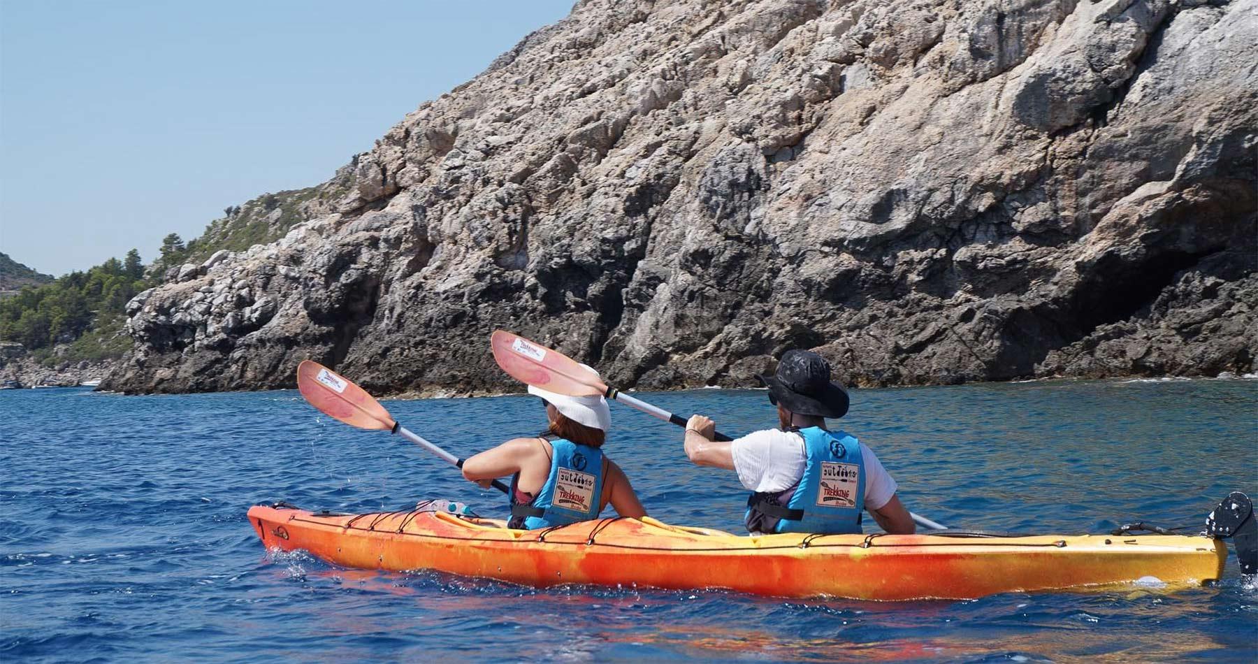Rhodes Experiences sea kayaking tour the pirates route 6