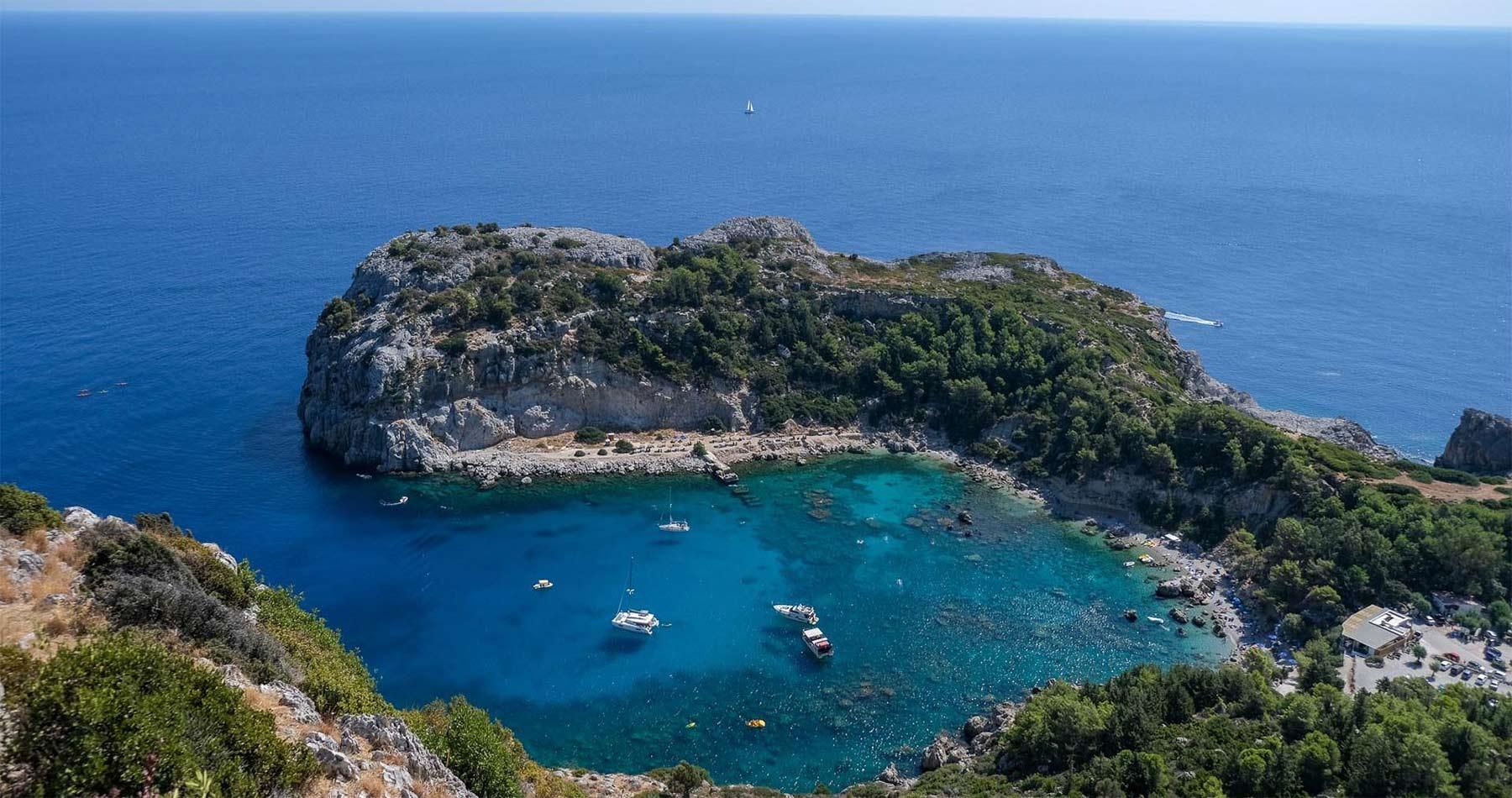 Rhodes Experiences sea kayaking tour the pirates route 7