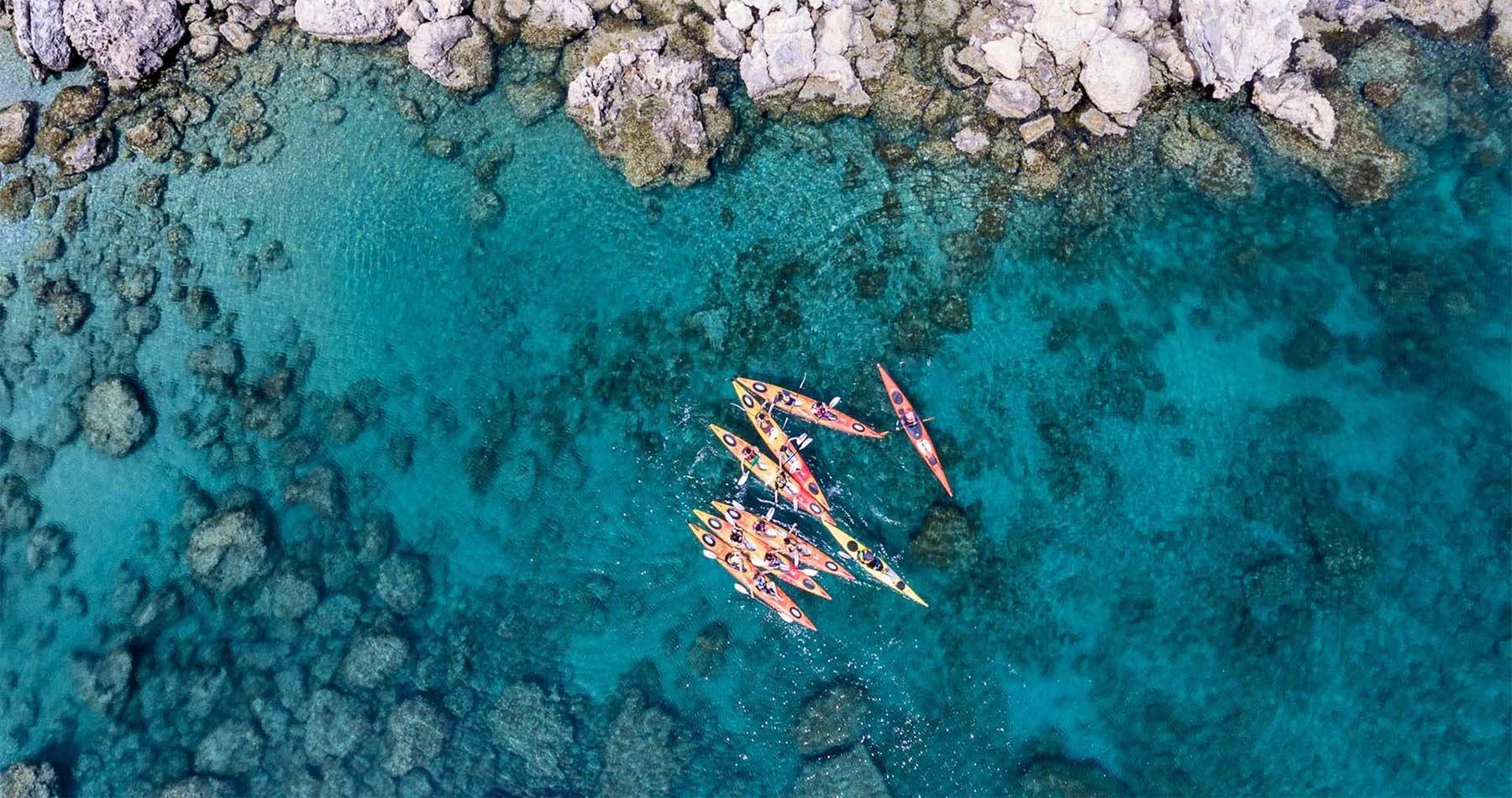 Rhodes Experiences sea kayaking tour the pirates route 9