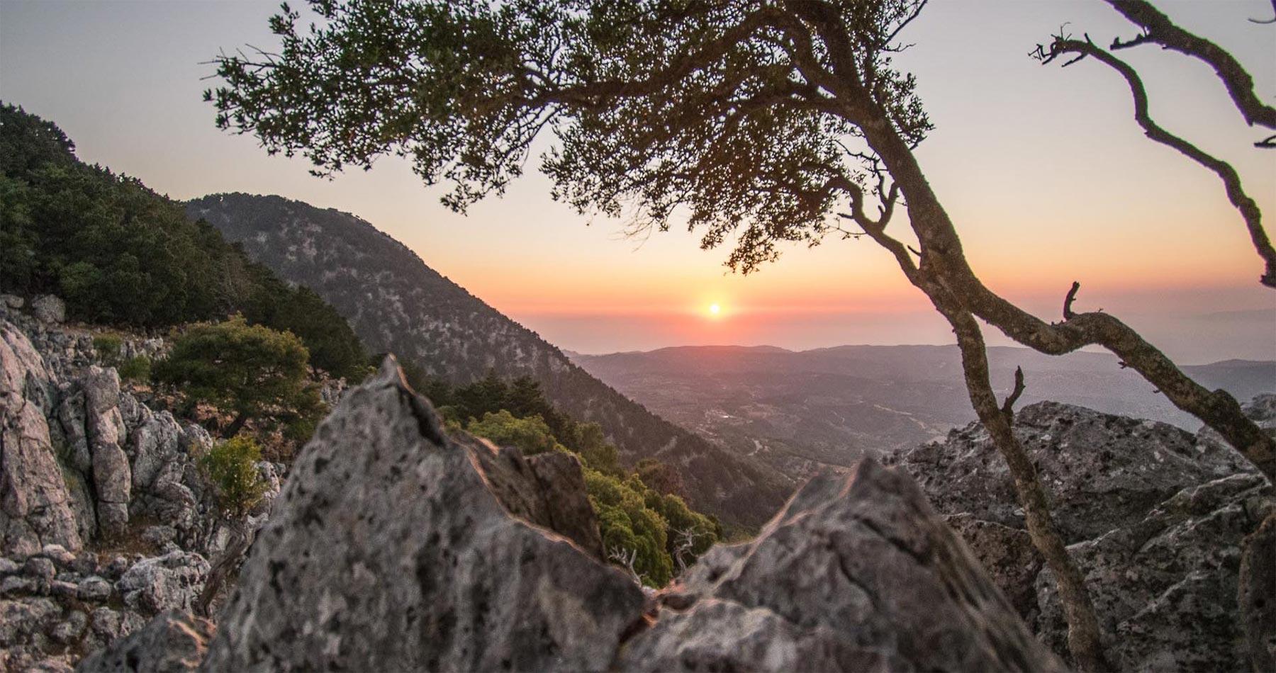 rhodes experiences amazing sunset hike profitis ilias 4