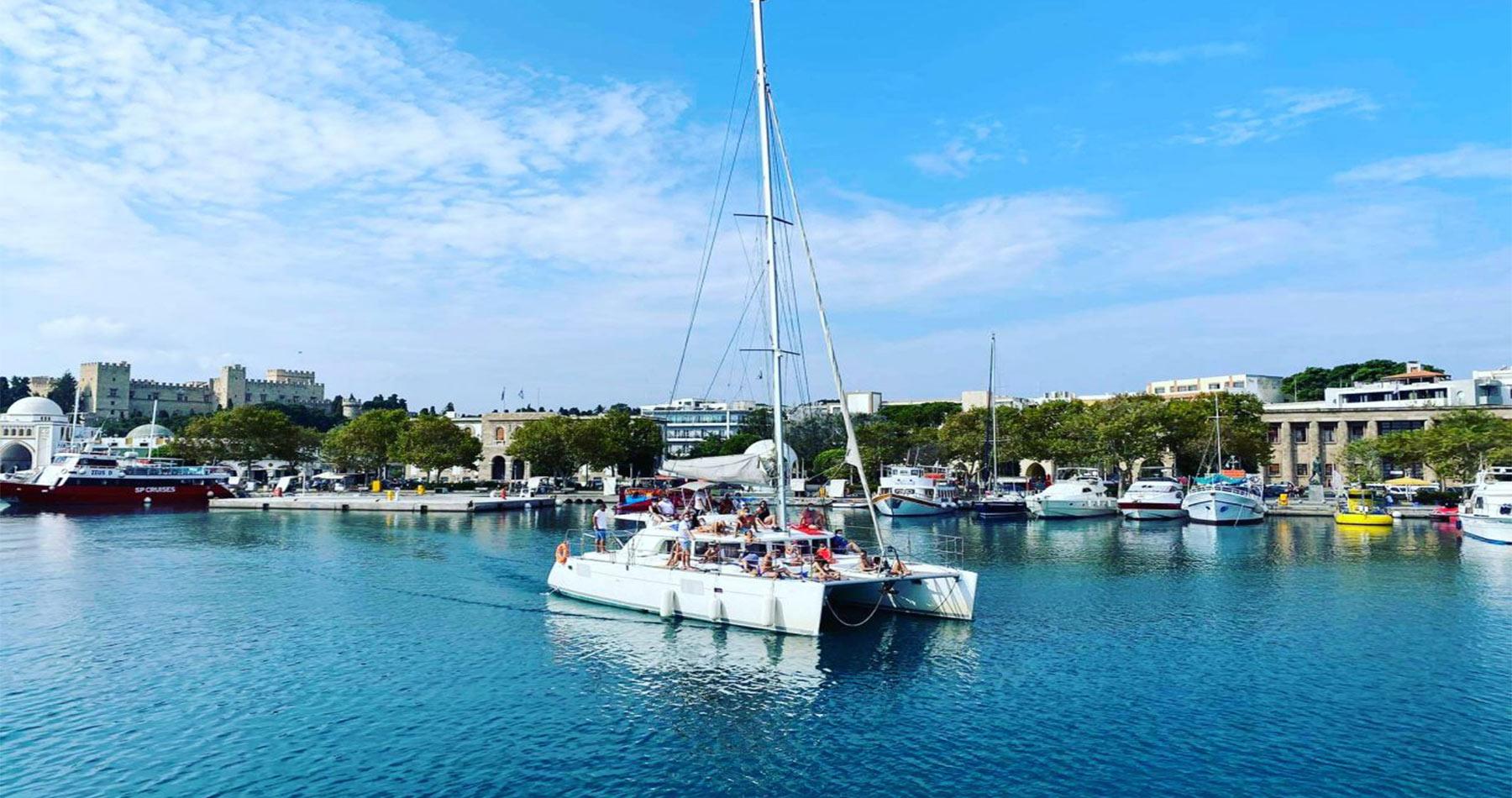 rhodes experiences catamaran 10
